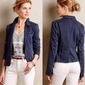Anthropologie Cartonnier Washed Chino Blazer